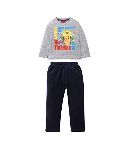 Sam el bombero Pijama (Velour) Gris (116/6 Años