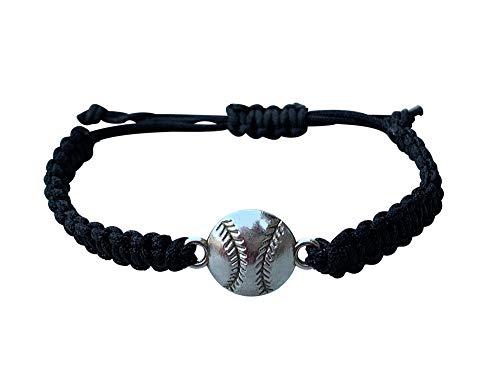 Sportybella Baseball Bracelet, Baseball Jewelry, Adjustable Braided Baseball Bracelet, Perfect Baseball Gifts