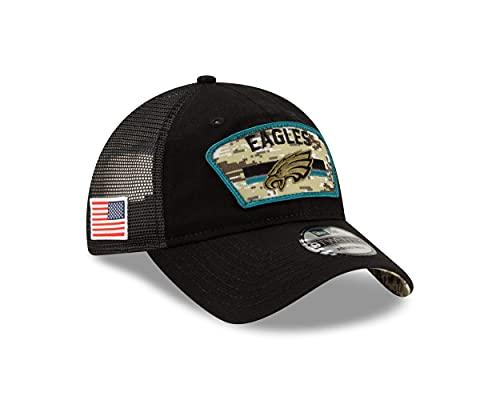 New Era Philadelphia Eagles NFL On Field 2021 Salute to Service Black 9Twenty Snapback Cap - One-Size