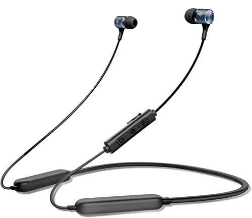 gorsun Auriculares Bluetooth 5.0, Auriculares Deportivos Impermeables IPX5, Auriculares inalámbricos magnéticos en la Oreja, 48 Horas de Tiempo de Juego Micrófono Deportivo con micrófono