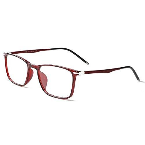Qwerty Gafas de Lectura progresivas multifocales TR90 Bloqueo de luz Azul con Lente Transparente, Gafas de computadora para Anti Fatiga Visual, Gafas para Hombres/Mujeres de Aumento,C,+1.25