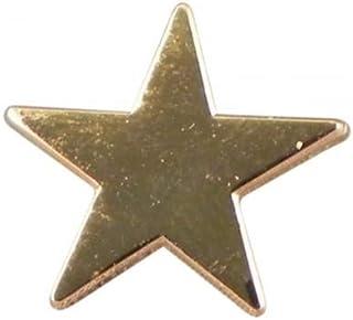 Spilla da bavero in metallo smaltato con stella d'oro