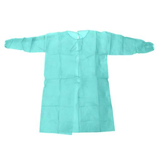EXCEART Einweg Schürze Arztkittel Vliesstoff Schutzkleidung Overalls Schutzanzug Vlies Medizinische Kittel Arbeitskleidung Laborkittel für Arzt Krankenhaus OP Labor