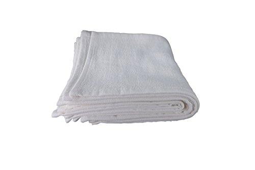 Comair 7001200 Lot de 10 serviettes pour les yeux 100 % coton Blanc 30 x 15 cm