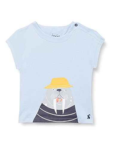 Joules Ben Camiseta, Blue Marl Walrus, 9-12m para Bebés