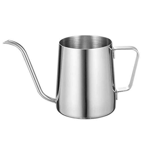 KSWL キッチン用品 コーヒー ドリップ ポット 細口ポット ステンレス製 350ml 銀