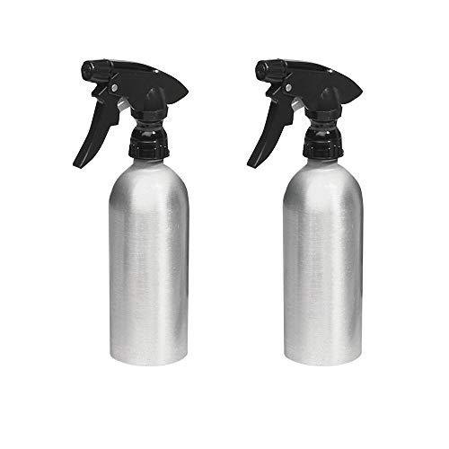 mDesign spruzzino Vuoto in Alluminio - Set da 2 - spruzzatore in Alluminio per la casa - spruzzino Acqua per Il Giardinaggio - Spazzolato/Nero