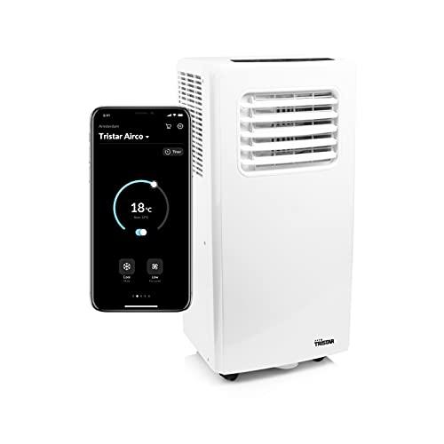 Tristar AC-5670 Climatizador conectado y controlado WiFi-4-en-1-7 000 BTU-2,05 kW-Aplicación gratuita, 785 W, 0.5 litros, 65 Decibelios, ABS, Blanco