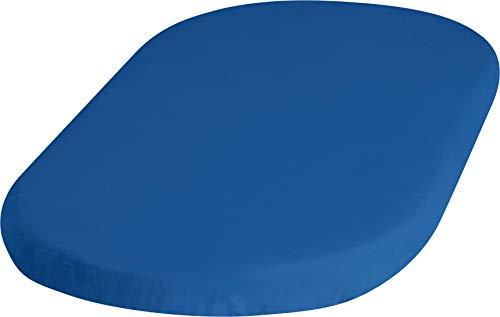 Playshoes 770323-7 Jersey-hoeslaken voor wiegen, wiegen, waterdicht en ademend, 40 x 70 cm, blauw, blauw
