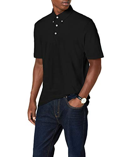 James & Nicholson Herren Poloshirt Poloshirt Men's Plain schwarz (black/black-white) XX-Large