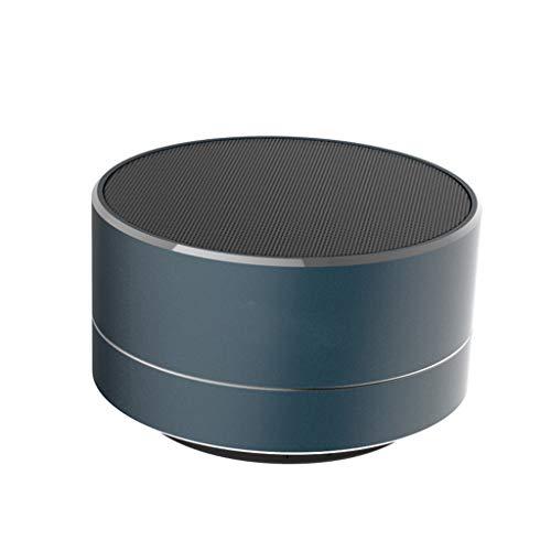 XiY Creativas Altavoces Bluetooth Portátiles De Metal Nuevo Mini Altavoz Bluetooth Negro Subwoofer Inalámbrico Es Compatible con Tarjeta De Sonido del Ordenador,Azul