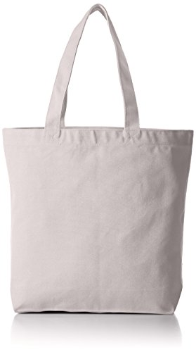 [ユナイテッドアスレ] (ユナイテッドアスレ)14.3オンス キャンバス トートバッグ(中)(ポケット付) 150801 ライトグレー