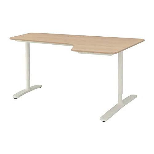 IKEA/イケア BEKANT:コーナーデスク /右160×110cm ホワイトステインオーク材突き板/ホワイト(592.846.57)