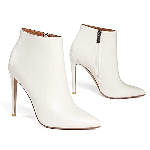 Dames stiletto laarsjes puntige gesloten teen zijrits 5 inch hoge hak enkellaarsjes beknopte elegante kantoorschoenen