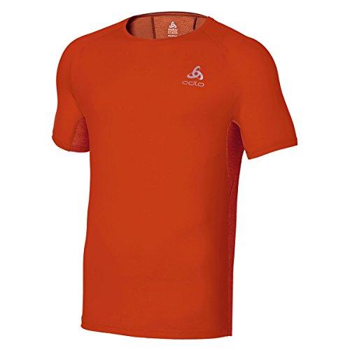 Odlo T-Shirt à Manches Courtes pour Homme Crono S Paprika