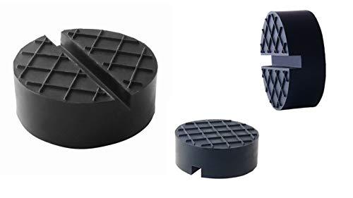 sarian 65x25mm Gummiauflage für Wagenheber Hebebühnen Rangierwagenheber Unterstellbock Gummiklotz universal für Reifenwechsel Werkstatt Schutz Auto
