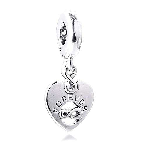 LGUC Colgante en Forma de corazón, en Plata 925, Adecuado para Pulseras Originales de Pandora