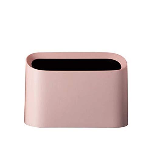 Cttiuliljt La Basura de plástico Puede Mini portátil Cuadrada Linda con Borde Biselado Cubo de Basura Duradero Resistente Basura Dispensador for Coches Inicio tocador de baño mostrador o Mesa