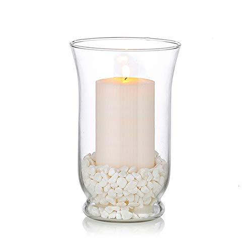 Kerzenhalter Glas Kerzenständer Stumpenkerzen Modern: 1 St Windlichter Glas Für Kerzen Teelichtgläser Pampasgras Vasen Hochzeit Tisch Wohnzimmer Weihnachten Taufe Deko