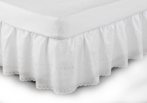Belledorm - Cubre canapé de fácil Ajuste y diseño Bordado Anglaise (Individual) (Blanco)