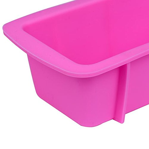 Ywoow Silicone Bread Loaf Cake Mold Non Stick Bakeware Baking Pan Oven Rectangle Mould