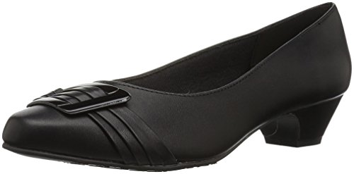 Soft Style by Hush Puppies Women's Pleats Be with You Dress Pump, Black/Patent, 9.5 3E US