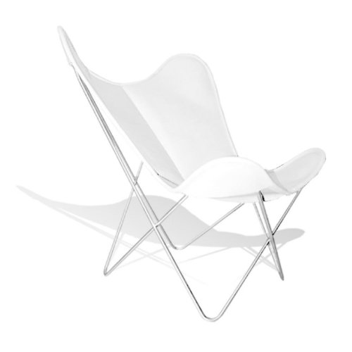 Vino baums hardoy Butterfly Chair Piel Blanco