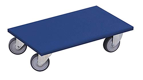 Möbelhund mit thermoplastischer Bereifung Blau Möbelroller Allzweckroller