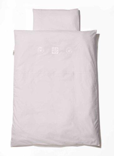 Easy Baby 410 Parure de lit pour enfant 100 x 135 cm Motif cœurs Blanc