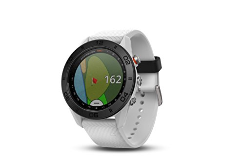 Garmin Approach S60, Premium GPS Golf Watch with Touchscreen Display and Full Color CourseView Mapping, White w/ Silicone Band