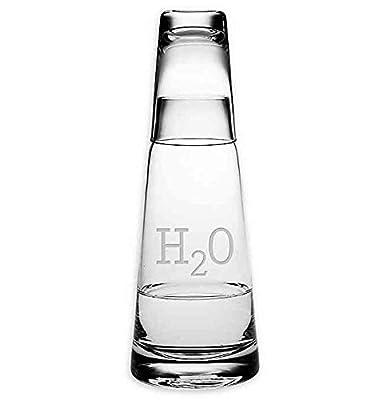 Susquehanna Glass H2O Cone Night Bottle 2-Piece Drinkware Set