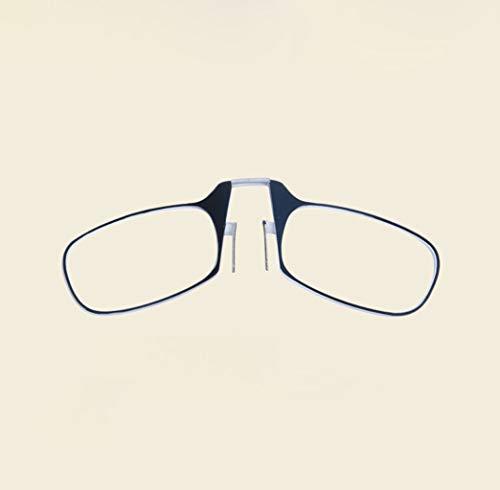 BLHZPD Draagbare leesbril vouwen knijpen leesbril voor mannen en vrouwen mode elegante beenloze bril