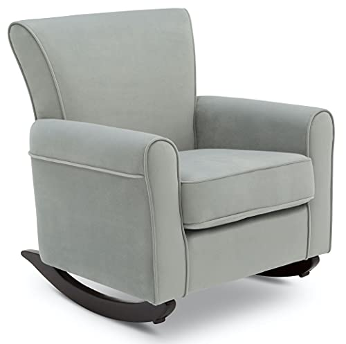 Delta Children Lancaster Rocking Chair Featuring Live Smart Fabric, Mist