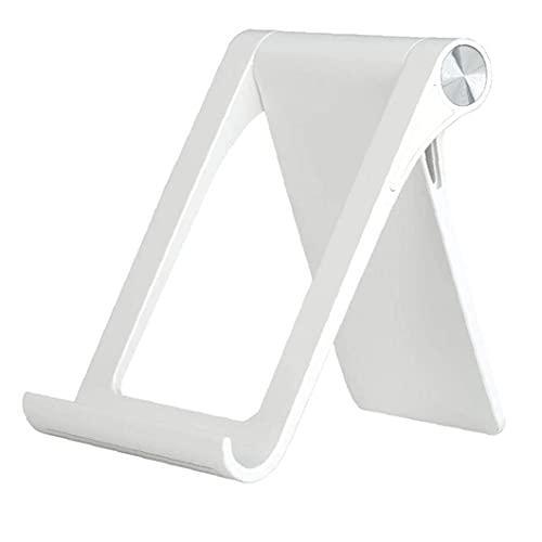 Tuimiyisou Soporte para teléfono Plegable Tablet Soporte Ajustable de la Tableta Soporte Estable y Anti-vibración en Rack Muelle de la Horquilla para Smartphone Tablet Blanca