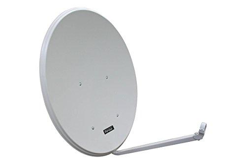 Opticum LH 80 SAT antenna in alluminio, HDTV, 3D, 4K / UHD ready, Colore Grigio chiaro