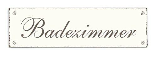 SCHILD Dekoschild BADEZIMMER Shabby Vintage Holzschild Türschild