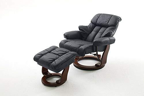 ADHW Relaxsessel mit Hocker Bezug EchtlederRelaxfunktion Tv-Sessel (Color : Anthrazit)