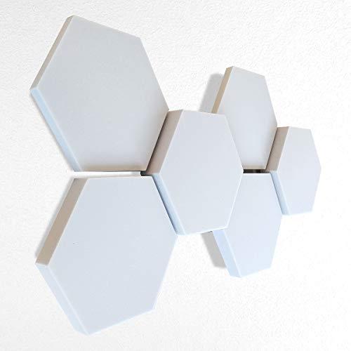 6 Basotect ® G+ Schallabsorber 3D-Set Hexagon Akustik Elemente - platino24 ® - Qualitäts-Schallabsorber