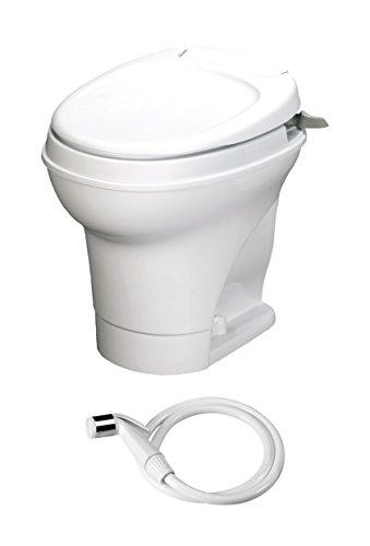 Aqua-Magic V RV Toilet Hand Flush with Hand Sprayer / High Profile / White - Thetford 31675