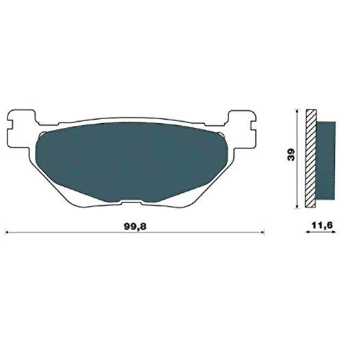one by Camamoto cod. 77281937 set coppia pastiglie   pasticche freno posteriore compatibile con yamaha t-max 530 2012-2013-2014-2015-2016 | compar. FD0493 rif. orig. Yamaha 59C258060000