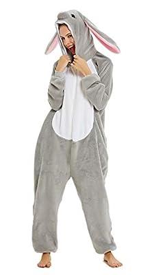 YULOONG Pijama para adultos, diseño de dinosaurio, león de unicornio, Halloween, fiesta de Navidad, disfraz de cosplay, disfraz para mujer y hombre
