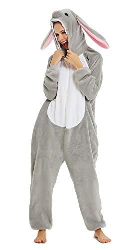 YULOONG - Pijama para adultos, diseño de unicornio, dinosaurio, león, Halloween, fiesta de Navidad, cosplay, disfraz para mujer y hombre