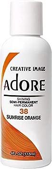 RINSE OUT SEMI-PERMANENT HAIR COLOUR SUNRISE ORANGE 38  118ML by Adore