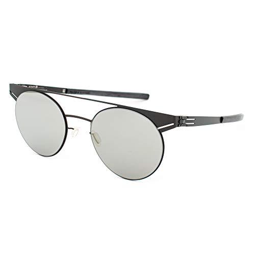 ic! berlin Geometry Brille, mattschwarz, 50/20/145, Unisex, für Erwachsene