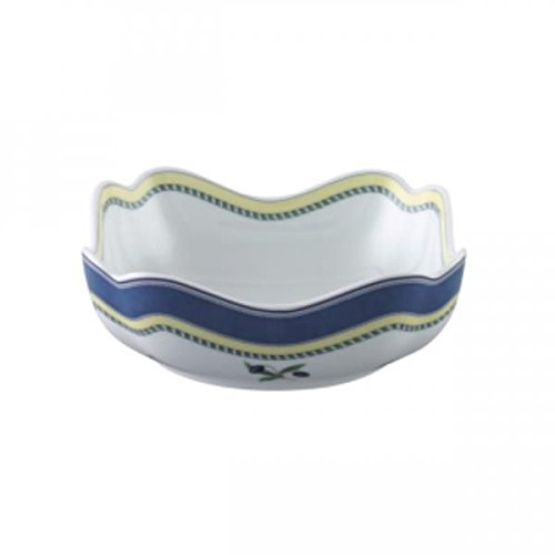 Hutschenreuther (Rosenthal) Maria Theresia Bowl Square Dish Medley Porcelain 610 Ml 18x18 Cm