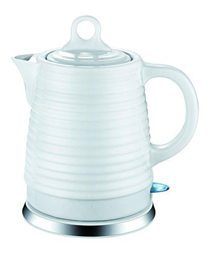 Guzzanti GZ-206 Wies Wasserkocher aus Hochwertiger Keramik Überhitzungsschutz 1.4 l, Ceramic, 1.4 liters, White