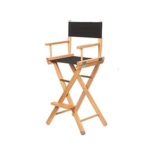 N/Z Klappstühle für Wohngeräte Klappstuhl für den Außenbereich Klappstuhl Buche + Leinwand Material Stangenhöhe Tragbarer Stuhl für den Außenbereich 53 * 40 * 115 cm