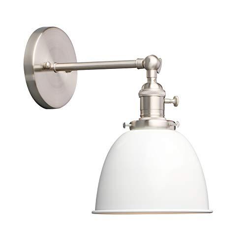 Phansthy innen Modernes Deckenhalbkreis mini mit Metall-Schirm Wandbeleuchtung Wandleuchten Vintage Industrie Loft-Wandlampen Antik Deko Design Wandbeleuchtung Küchenwandleuchte (Weiß)