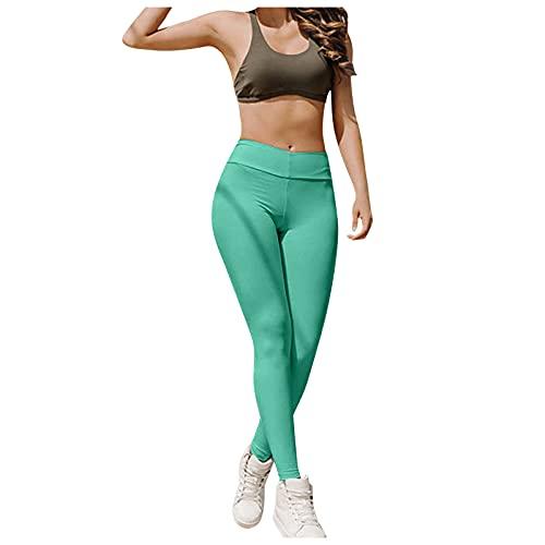 BIBOKAOKE Pantalon de yoga sexy pour femme - Taille haute - Pantalon de fitness extensible avec poches - Pantalon de jogging - Yoga - Fitness - Pantalon crayon - Pantalon de yoga pour femme M Vert 33.