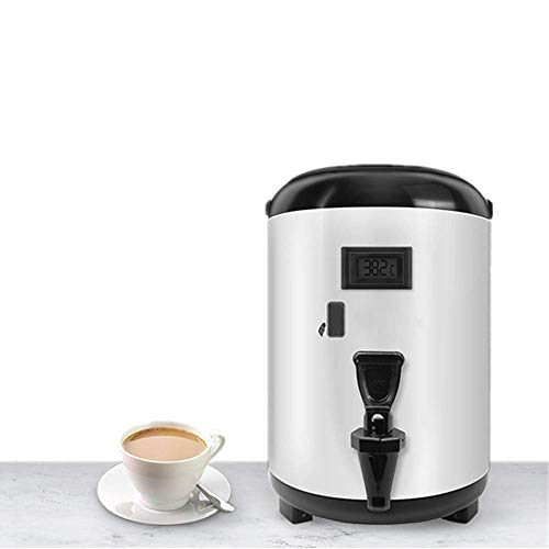 ANGELA 8L Stainless Steel Insulated Barrel Beverage Dispenser with Spigot and Temperature Display, for Hot Water Milk Tea Coffee Juice, Home Party Use